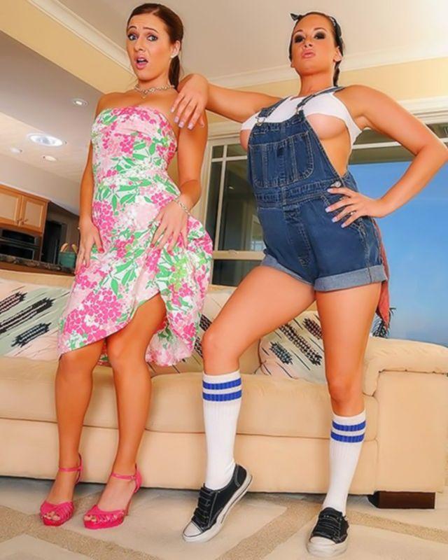Две лесбиянки доминируют друг над другом