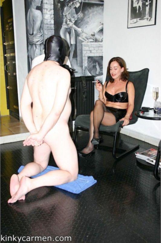 Коварная сука прибила член мужика к стулу