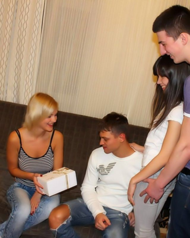 Групповуха русских студентов с молодыми телочками